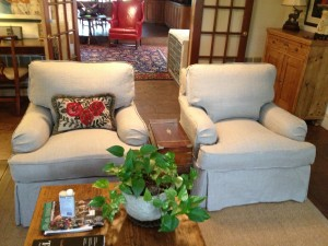 Slipcover with Flanged Trim